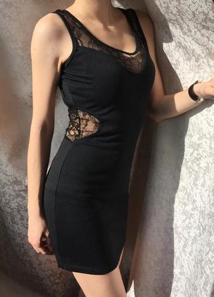 Стильное платье с кружевом размер s, oxford circus