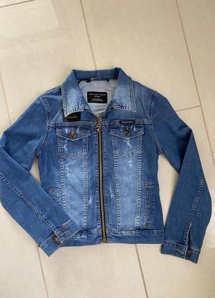 Куртка эксклюзив дизайнерская джинсовая philipp plain размер s