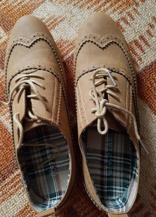 Скидка!! Мужские стильные мокасины на шнурках 43 размер кожа
