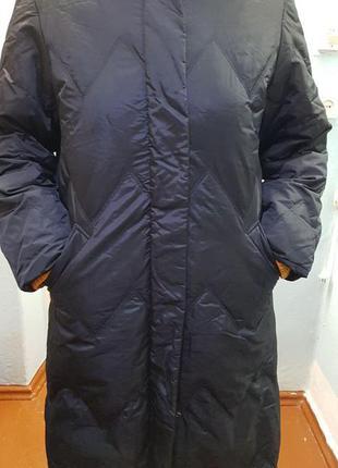 Черный пуховик пальто женский