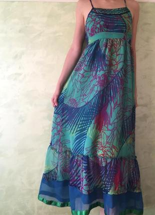 Яркое летнее платье/ сарафан на худенькую девушку, xxs