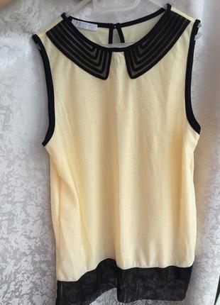 Стильная майка блуза promod m/l желтая
