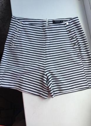 Стильные шорты в полоску reserved высокая талия