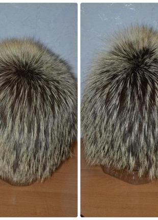 Стильная, женская шапка с чернобурки.