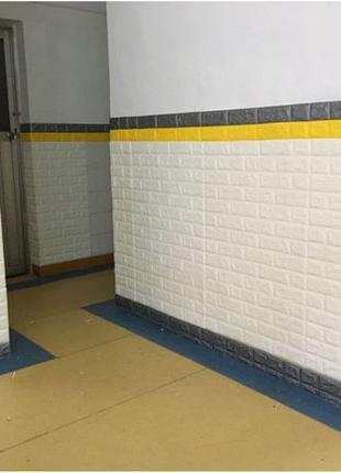 Декоративные 3Д панели самоклейки белые. Ремонт.Обои.