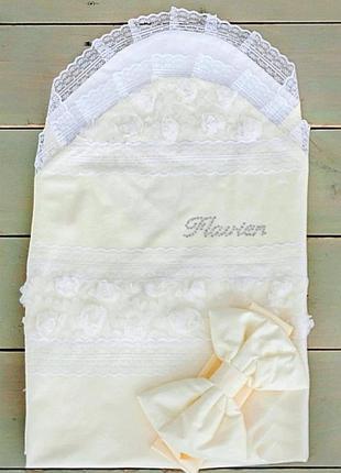Нарядный летний конверт-плед flavien для новорожденного