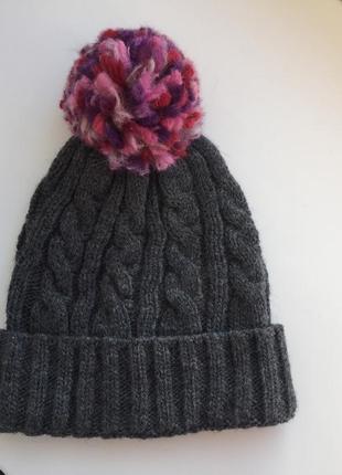 Качественная шапка для девочки c&a, шерстяная