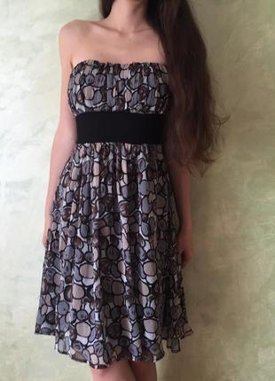 Нарядное платье miso, размер m/l, стильное, красивое, шифоновое
