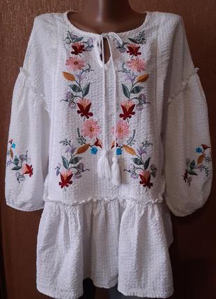 Вышиванка,блузка с вышивкой размер 18 tu