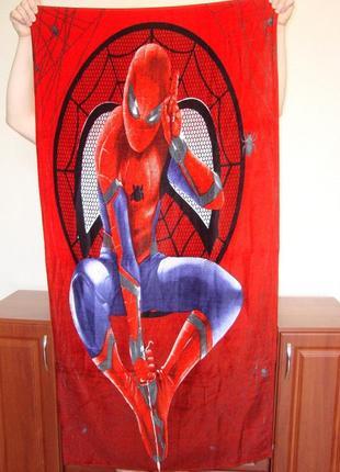 Пляжное полотенце спайдер мен spider man