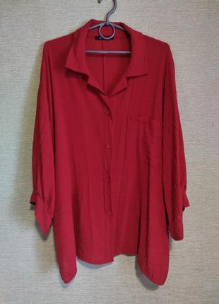 Красная блуза накидка кардиган niederberger