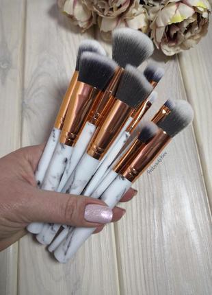 13-16 см 10 шт полноразмерные мраморные кисти для макияжа мрам...