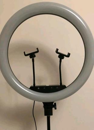 Профессиональная кольцевая LED лампа 45 cм 2Х с штатив-треногой д