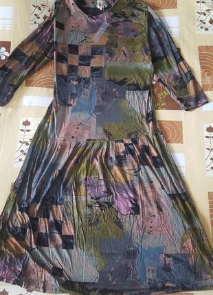 Красивейшее модное длинное вискозное платье  пог 55/64см Турция