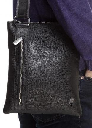 Мужская сумка через плечо мессенджер кожаная качественная стил...