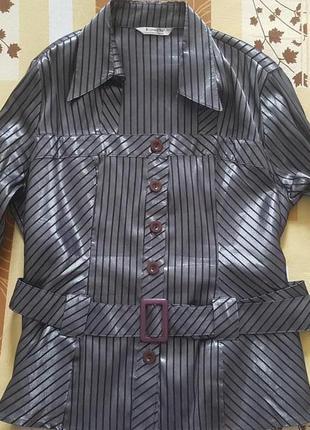 Супер модная блуза в полоску  и красивейшим декольте ПОГ54/60с...