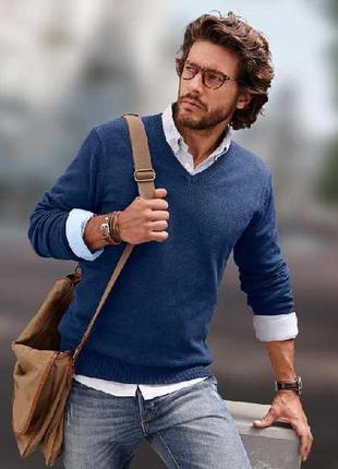 Свитер пуловер цвет деним tcm tchibo размер л