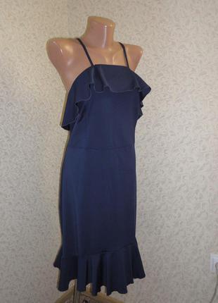 Шик! синее платье body flirt boutique р.14