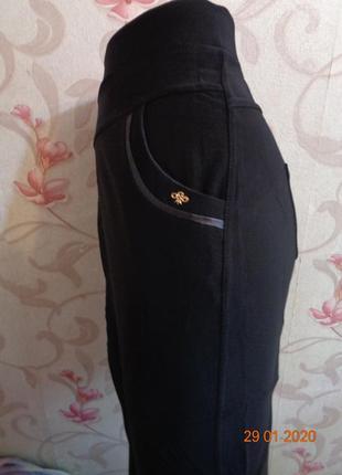Черные брючные лосины с карманами.  раз 64/68. снова в наличии