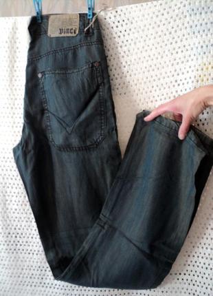 Легкие мужские джинсы брюки vinci w29-33l34, 100% тенсел, турц...