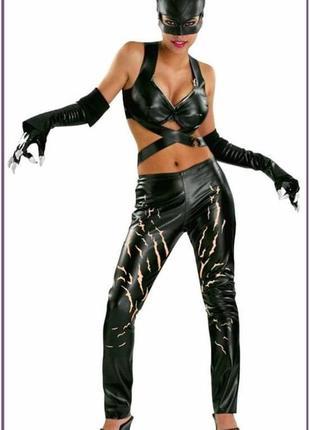 Карнавальный костюм женский женщина кошка с царапинами