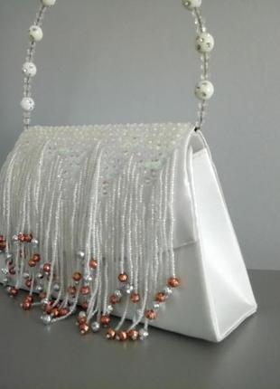 Шелковая сумочка с бахромой