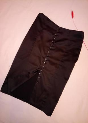 Облегающая юбка c разрезом спереди m-l