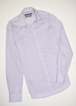 Мужская рубашка в полоску длинный рукав, marks & spencer