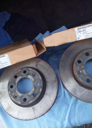 Тормозные диски Авео т250 передние под проточку