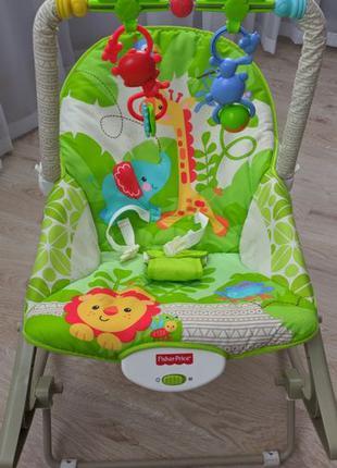 Массажное кресло-качалка Веселые обезьянки Fisher-Price