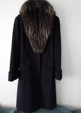 Кашемировое пальто бренд love fairyanni со съемным нат.мехом