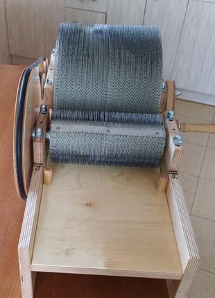 Барабанный кардер для обработки шерсти любой сложности