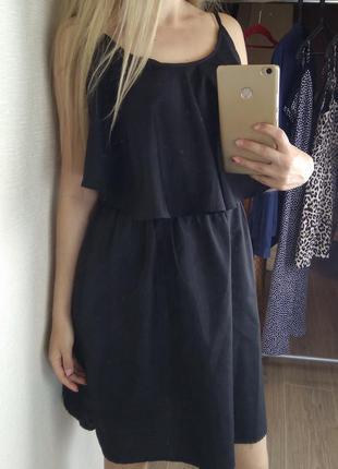 Черное платье платице сарафан