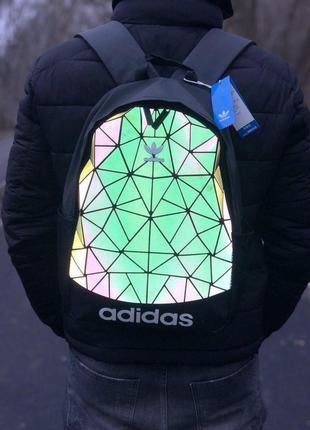 Adidas bags reflective шикарный мужской рюкзак адидас чёрные