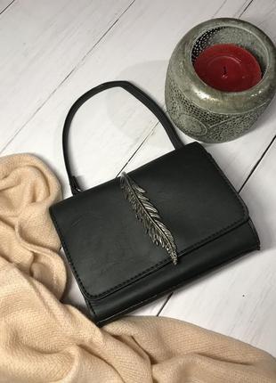 Черный клатч - сумка на плечо