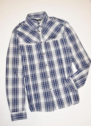 Мужская рубашка в клетку длинный рукав, firetraр