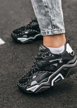 Calvin klein strike 205 black шикарные женские кроссовки келви...