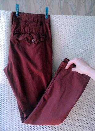 Зауженные модные джинсы-брюки, w 30, лето
