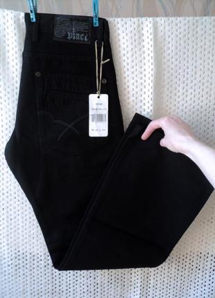 Брендовые черные джинсы vinci турция w31l34.100% хлопок, демис...