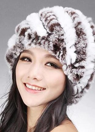 Зимняя шапка мех кролик