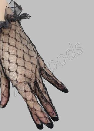 Перчатки гипюровые, кружевные (p770)