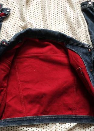 Утепленная модная короткая джинсовая куртка от dlf! турция! де...