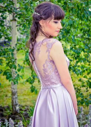 Платье торжественное выпускное длинное хамелеон