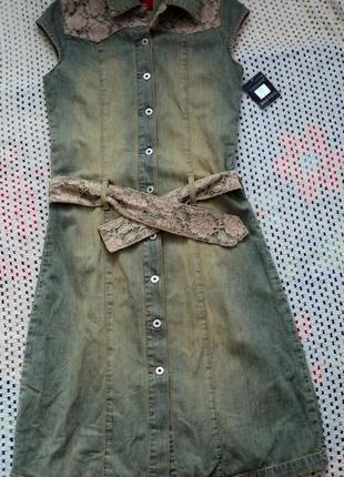 Джинсовый сарафан-платье . турция. м