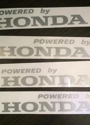 """Наклейки на авто """"Powered by... """" , """"CIVIC"""""""