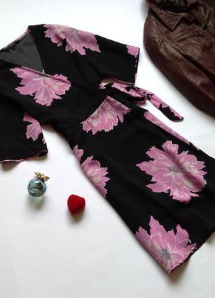Платье на запах с запахом vero moda
