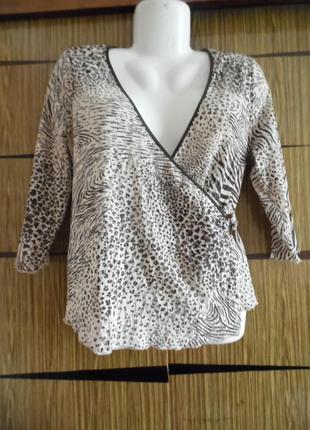 Блуза трикотаж-сетка, новая laroque размер 16 – идет на 50-52.