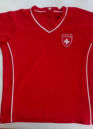 Футболка SUISSE детская (на 128 см) victory, яркая, красная
