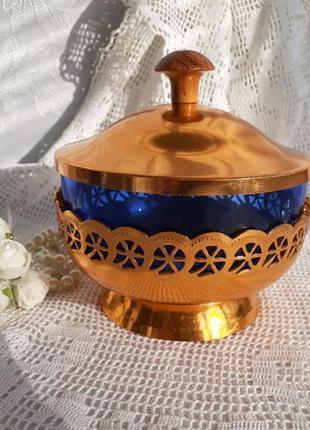 Ваза бонбоньерка, г. Светловодск СССР 80-е конфетница стекло+а...
