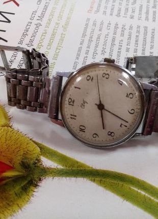 """Часы """"Свет"""" СССР, 60-е, с металлическим браслетом, рабочие"""